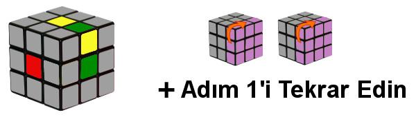 Rubik Küp - Adım1-c4