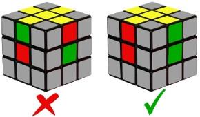 cub de rubik - pas 1-1