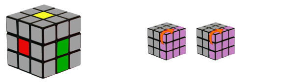 cub de rubik - pas 1-c1