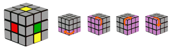cub de rubik - pas 1-c2
