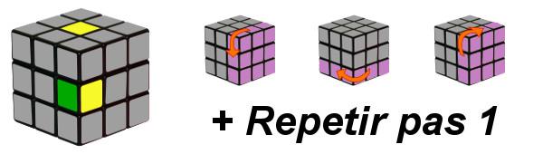 cub de rubik - pas 1-c3