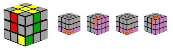 cub de rubik - pas 2-c1
