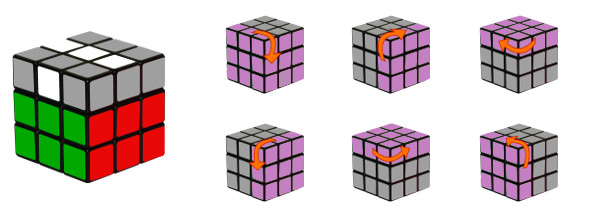 cub de rubik - pas 4-c2