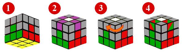 Método Principiantes Cubo 3x3 Paso 3 Segunda Corona Del Cubo De Rubik