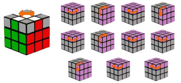 Paso 5 Orientar La Cruz Del Cubo De Rubik