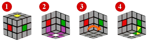 cubo di rubik - passo 1-2