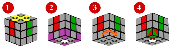 cubo di rubik - passo 2-2