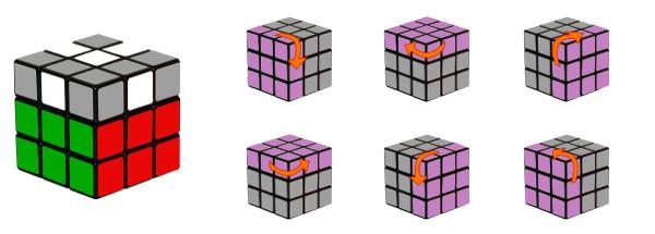 cubo di rubik - passo 4-c1