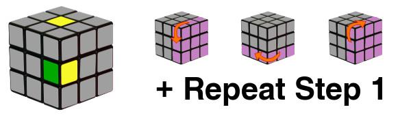 ルービックキューブ - ステップ1-c3
