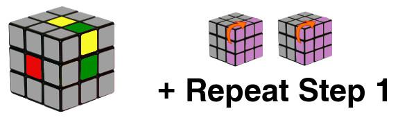 ルービックキューブ - ステップ1-c4